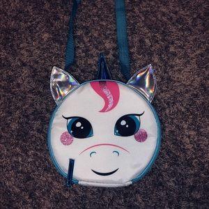 Girls unicorn lunchbox with strap. NWOT.